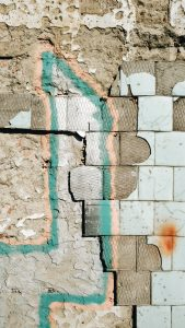 Photo of old and broken wall
