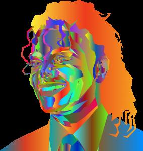 portrait, michael jackson, man