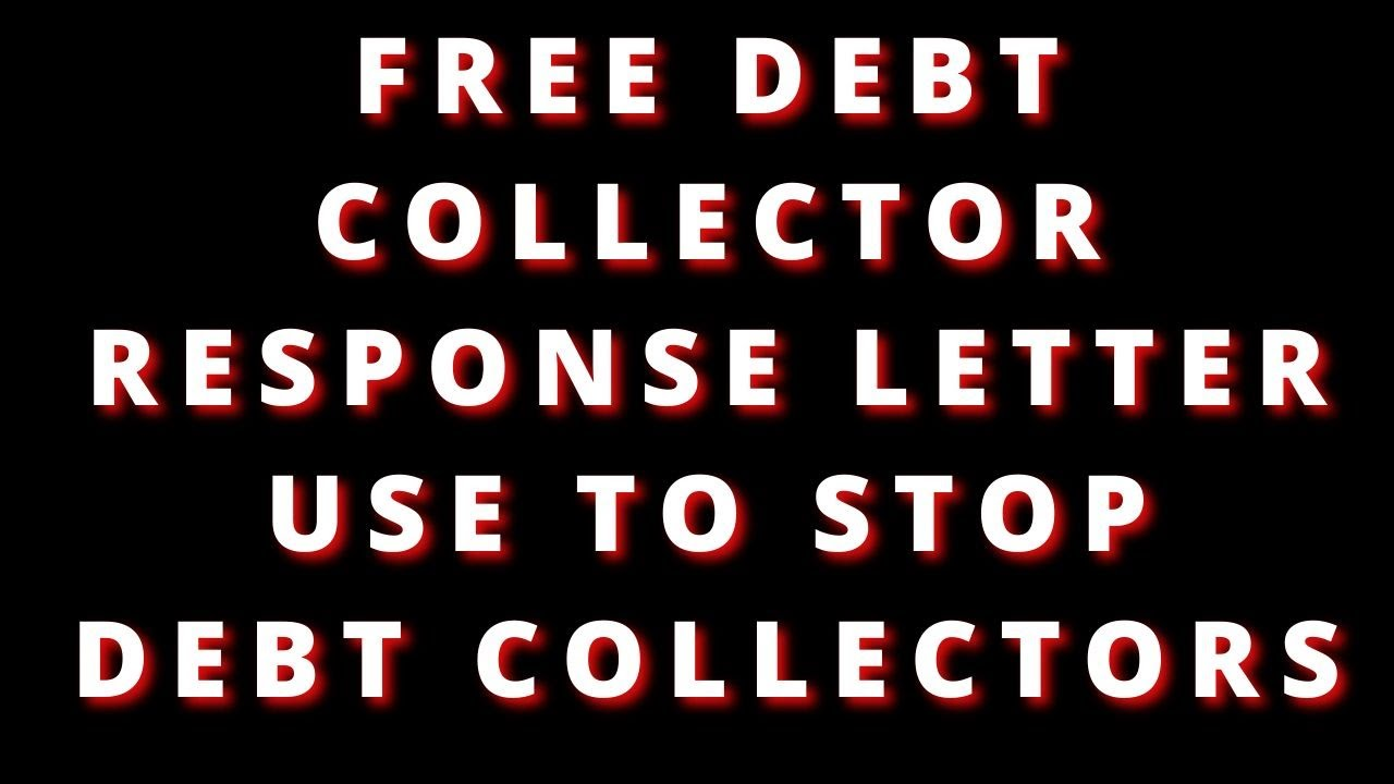 USE THIS LETTER TO STOP DEBT COLLECTORS