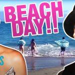 Kourtney Kardashian Bonds With Travis Barker's Kids During Beach Trip   E! News