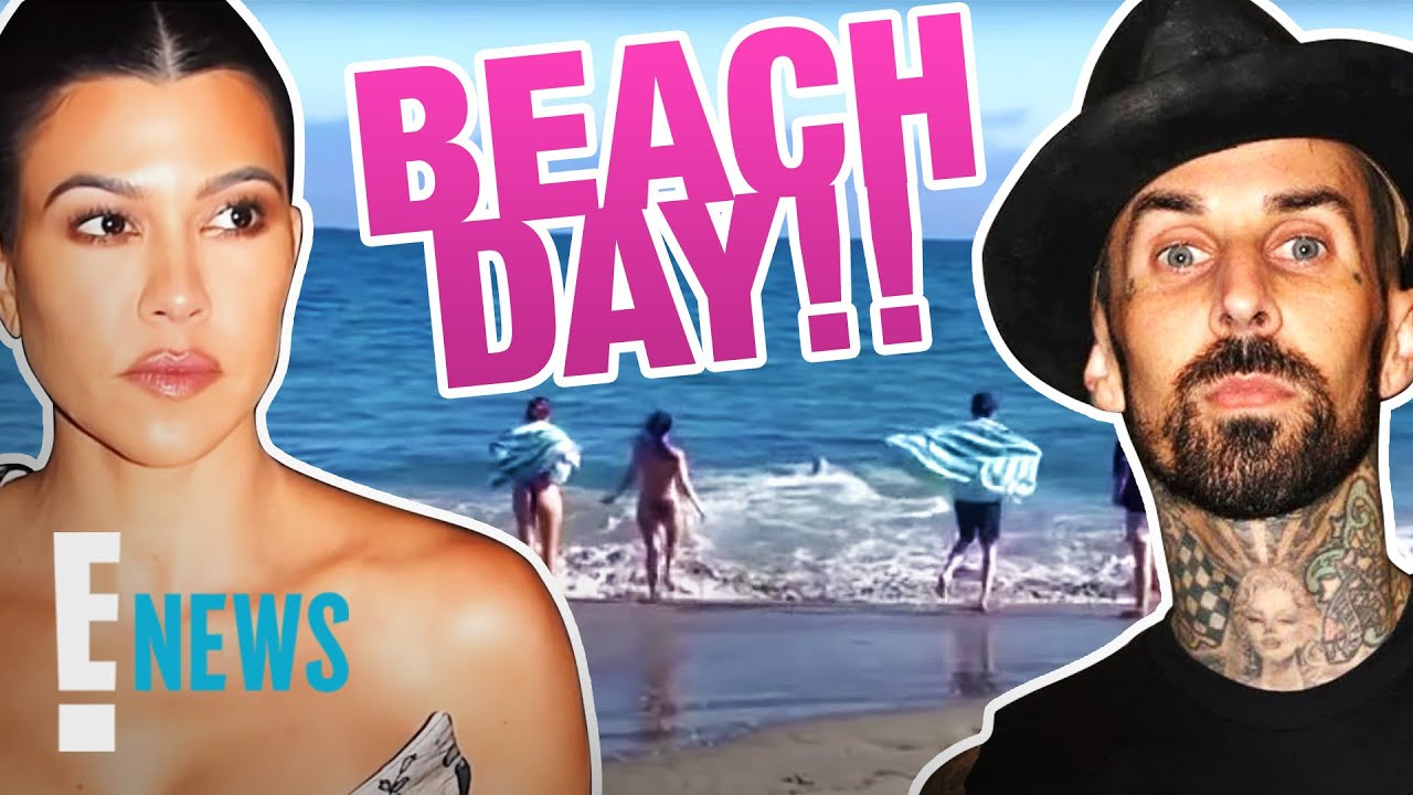 Kourtney Kardashian Bonds With Travis Barker's Kids During Beach Trip | E! News