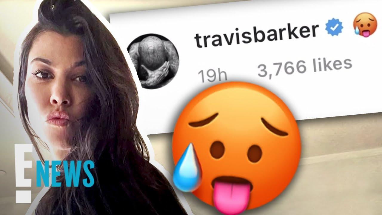 Kourtney Kardashian's SEXY Pics Have Travis Barker Swooning   E! News