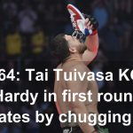 UFC 264: Tai Tuivasa KOs Greg Hardy in first round, celebrates by chugging beer out of shoe