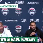 Mike Brown and Gabe Vincent on beating Team USA   Team Nigeria Post-Game Interview