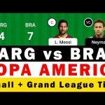 ARG vs BRA Dream11 Team    Argentina vs Brazil Dream11 Team   Copa America