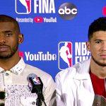 Chris Paul & Devin Booker Postgame Interview - Game 3  - Suns vs Bucks   2021 NBA Finals