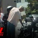 Machine Gun Kelly & Megan Fox Pulled Over on Motorcycle   TMZ TV