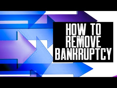 BANKRUPTCY REMOVED    HOW TO REMOVE BANKRUPTCY    COLLECTIONS NOT REPORTING    REMOVE COLLECTIONS