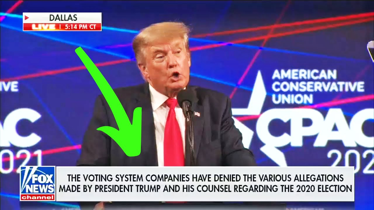 LOL: Fox Runs DISCLAIMER During Trump's Election Lie Speech