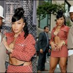 50 Cent And Girlfriend Dress In 90's Gucci For Raising Kanan Red Carpet Premier