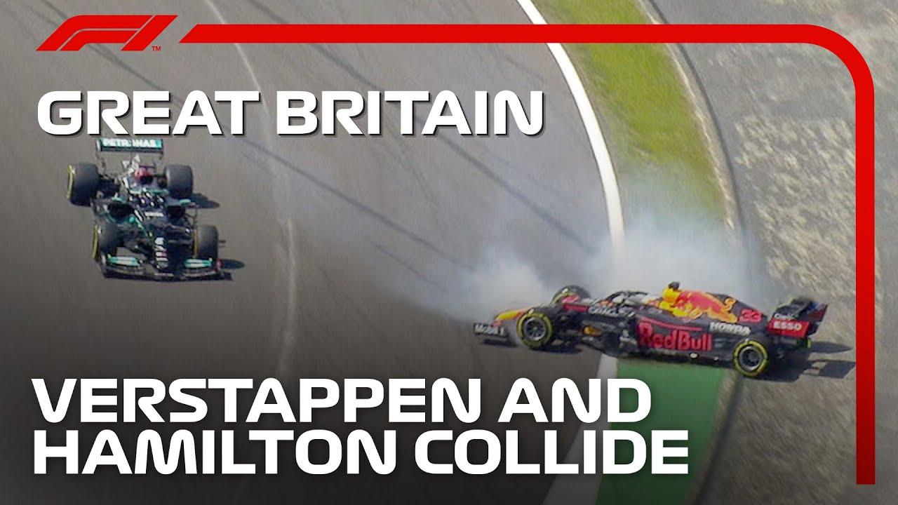 Verstappen & Hamilton Collide On Lap 1 | 2021 British Grand Prix