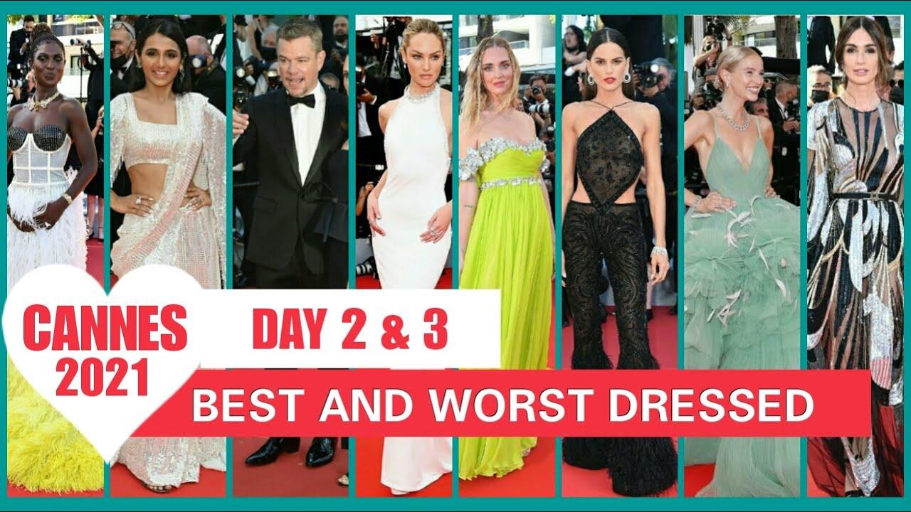 Cannes Film Festival 2021   DAY 2 & DAY 3    BEST AND WORST DRESSED RANKING    MATT DAMON , CANDICE