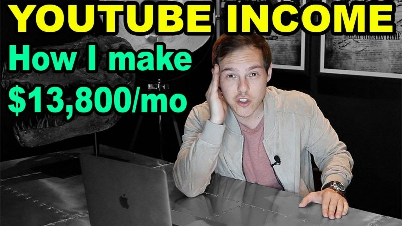 How I make $13,800 PER MONTH on YouTube (How much YouTubers make)