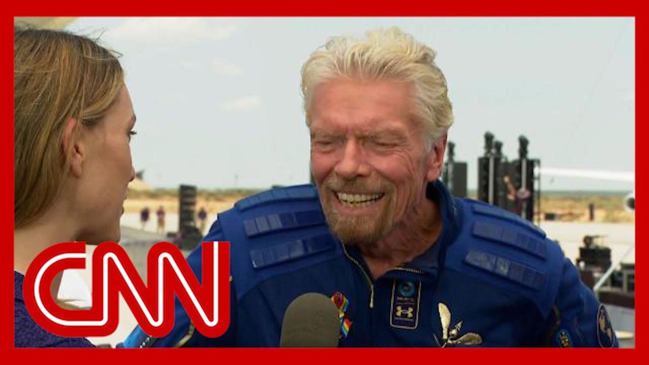 Richard Branson describes 'extraordinary' space flight