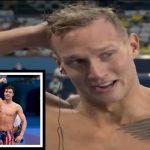 Caeleb Dressel - American swimmer Caeleb Dressel fought back tears after setting a new | 2TV News