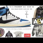 Travis Scott - TRAVIS SCOTT FRAGMENT AIR JORDAN 1 IS LIVE! RUN!!!!! AEW DYNAMITE FIGHT FOR THE FALLING WATCH ALONG