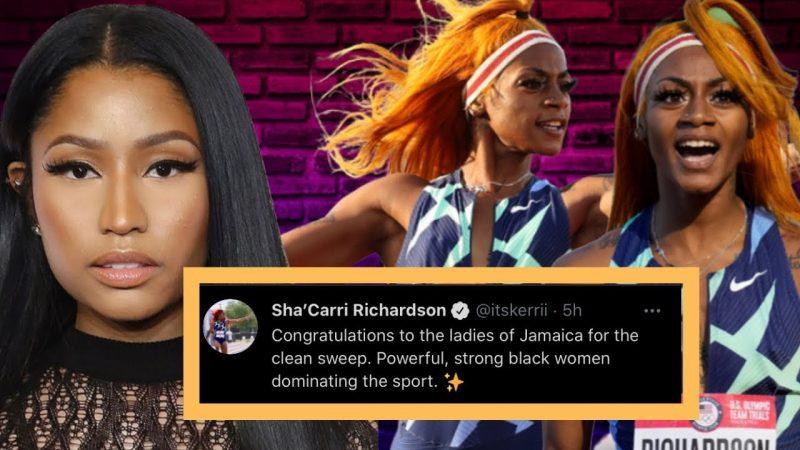 Sha'Carri Richardson – Sha'Carri Richardson Responding IG Live??? About Nicki Minaj Accused Shading Over Elaine Thompson