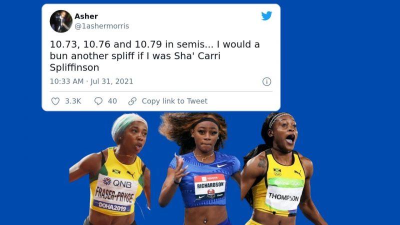 Sha'Carri Richardson – Social Media Reacts To Jamaica Sweeping Women's 100m Amid Sha'Carri Richardson's Absence