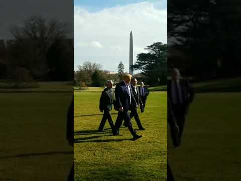 Trump walked with Dr. Fauci