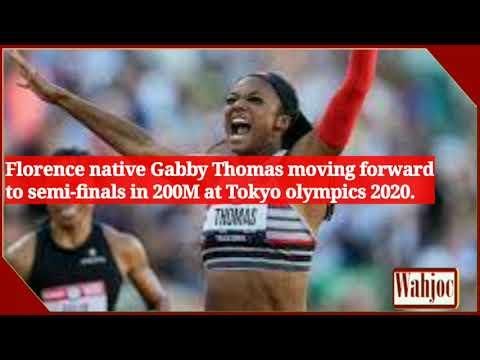 Gabby Thomas – Florence native Gabby Thomas moving forward to semi-finals in 200M at Tokyo olympics 2020.