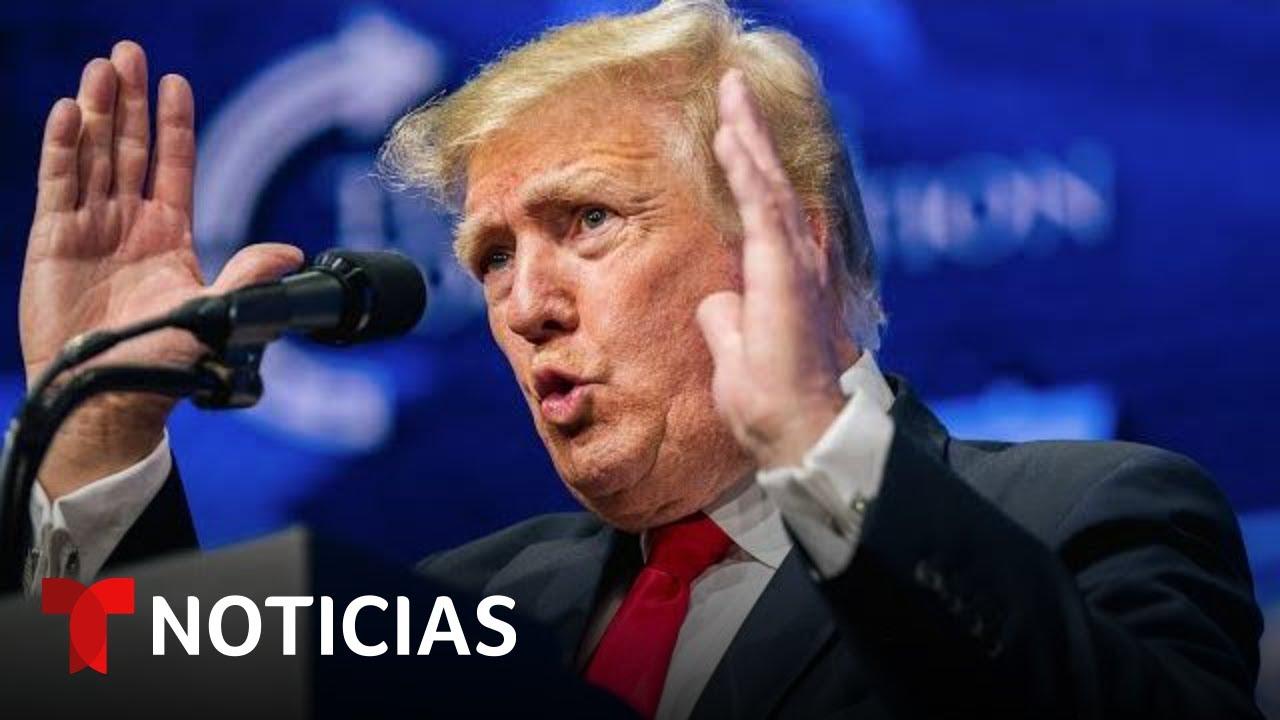 Trump recauda millones pero no ha confirmado una candidatura | Noticias Telemundo
