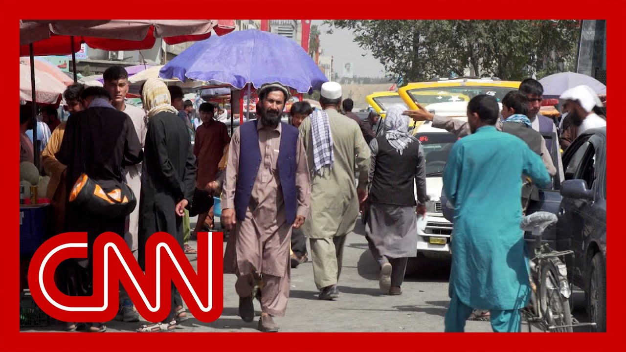 CNN reporter shows scene in Kabul streets just days after Taliban takeover