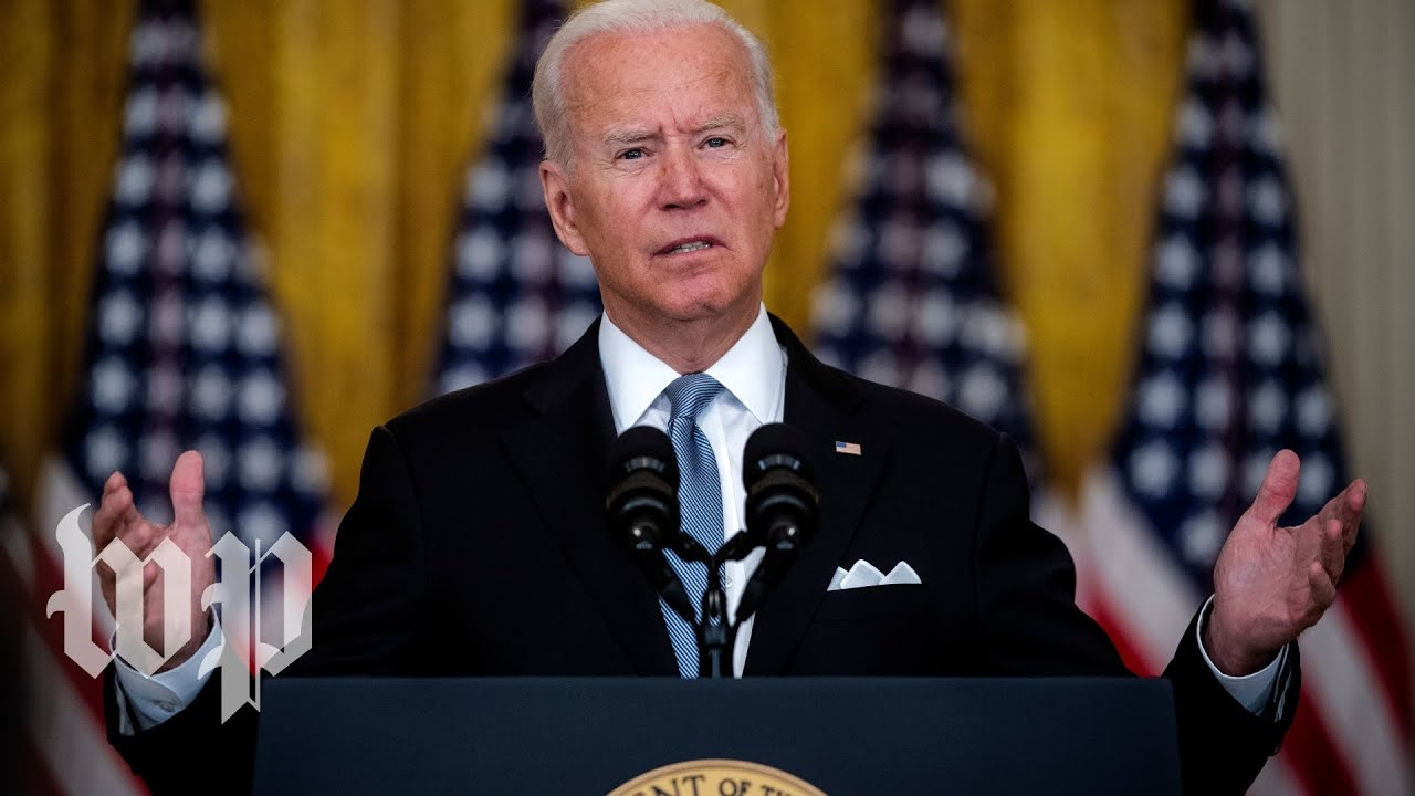 Biden blames Afghans, Trump while saying the 'buck stops with me'