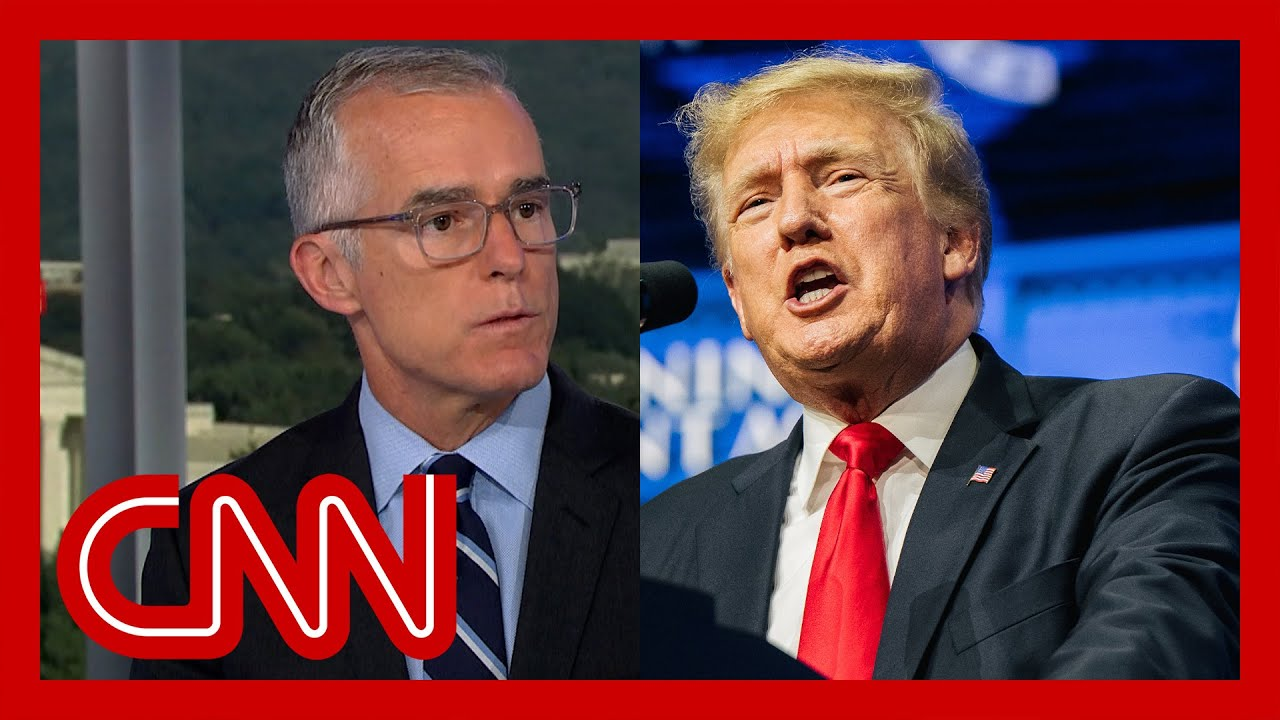 'That's a threat': McCabe reacts to Trump's remark about officer