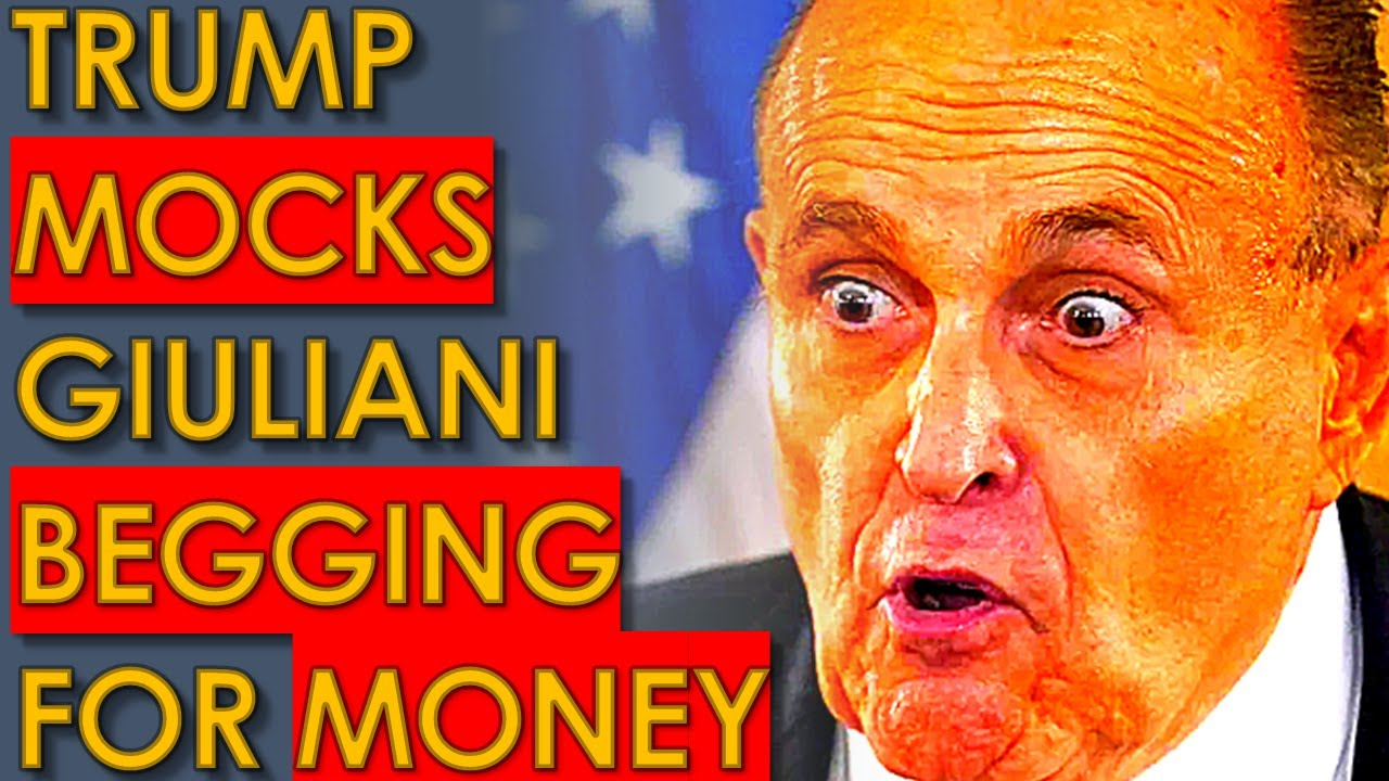 Trump LAUGHS at Rudy Giuliani after he BEGS Trump for Money!