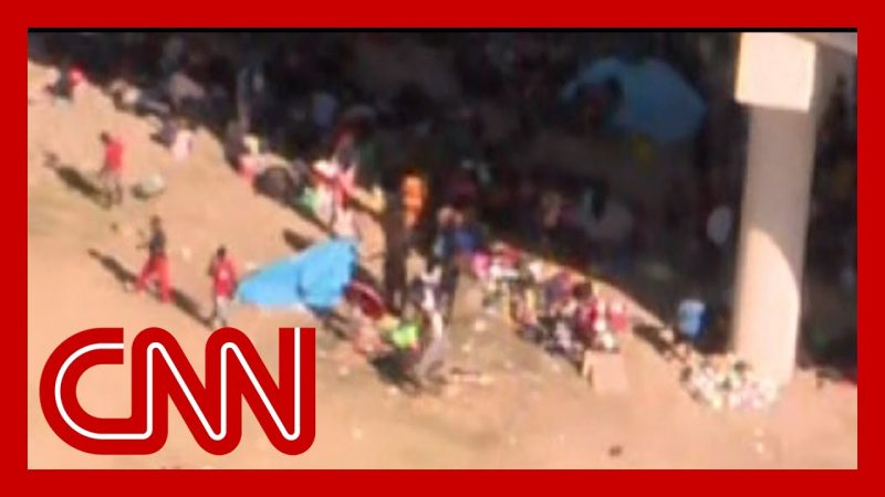Reporter shares shocking aerial footage of US border crisis