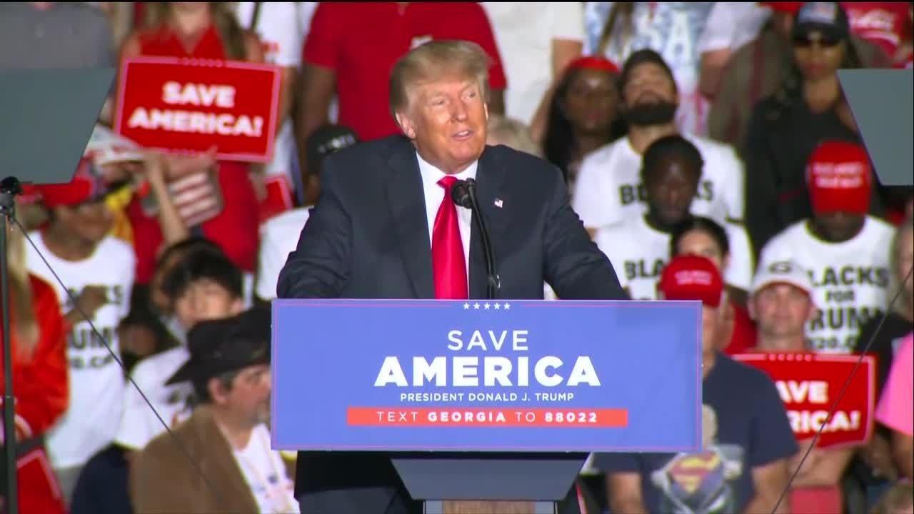 Donald Trump Save America rally in Perry, Georgia