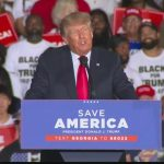 Thousands gather to see Trump speak at Save America rally in Georgia