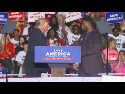 Former President Trump welcomes US Senate candidate Herschel Walker at 'Save America' rally