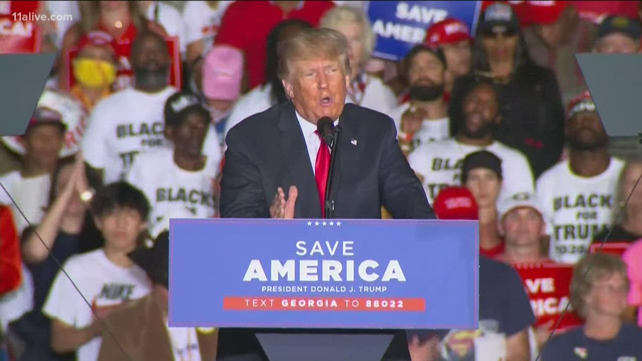 Former President Trump, allies campaign in Perry, Georgia
