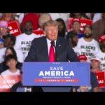 Former President Trump speaks at rally in Georgia