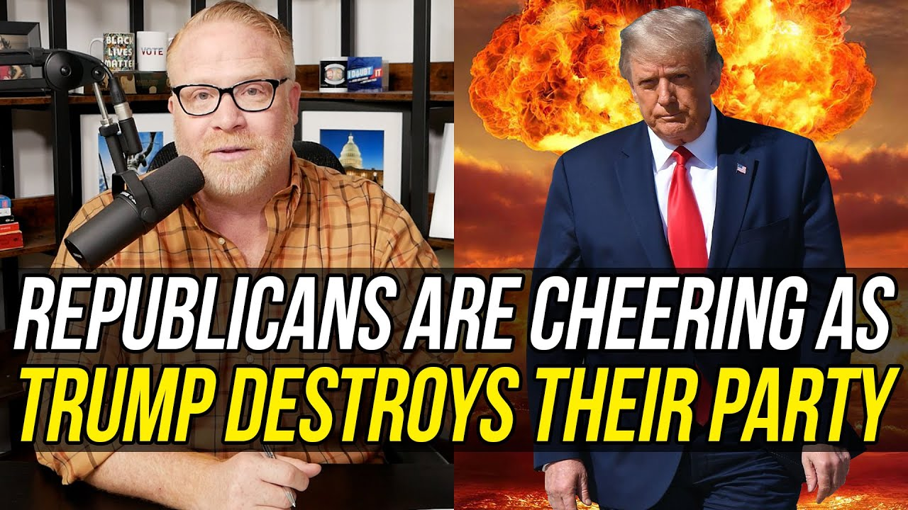 Bootlicking Republicans are Applauding Gleefully as Donald Trump Burns Their Party to the Ground.