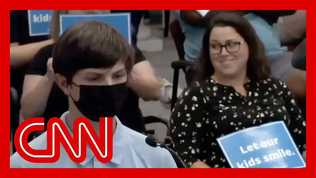 Student who was mocked over masks has a response for his hecklers