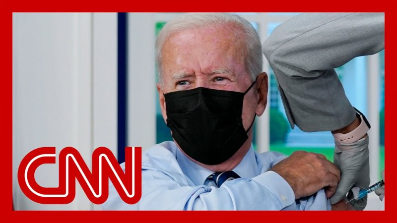 See Biden get his Covid-19 booster shot while talking to the press